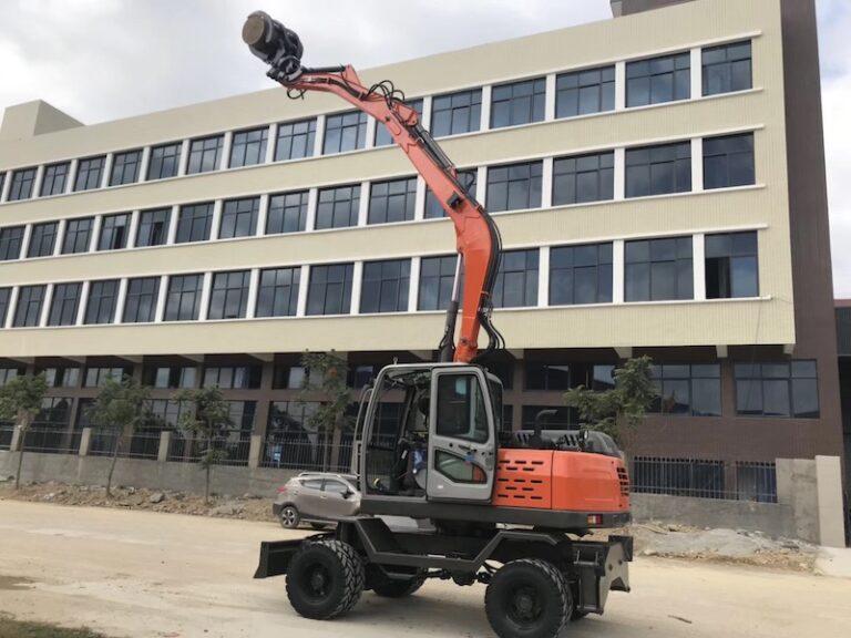 3-section long arms wheel excavators