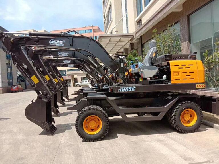 JG65S wheel excavators shipment