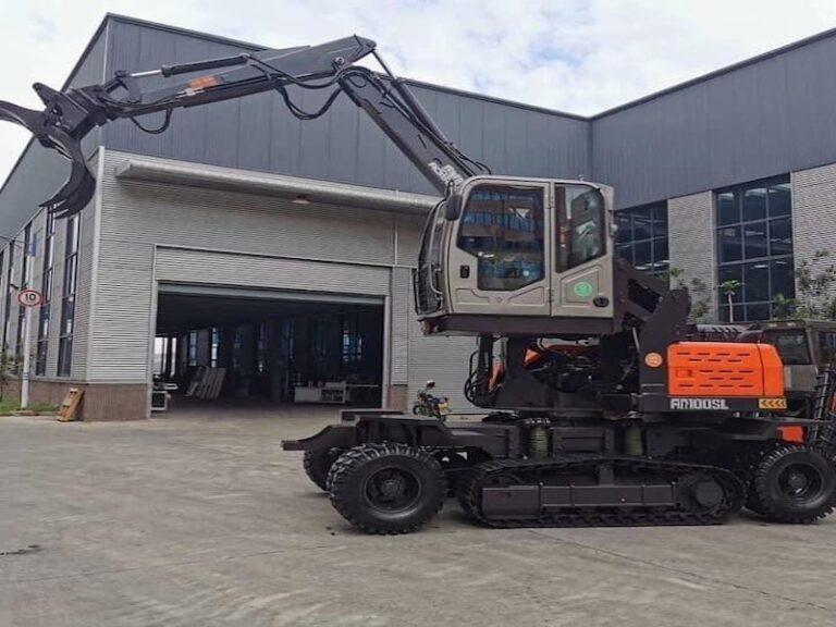 Wheeled crawler excavators