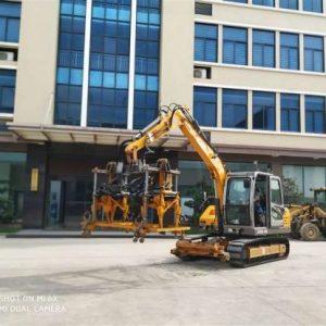 JG80L-C rail excavators ballast tampling